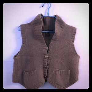 Marc Jacobs Merino Wool Crop Cardigan Sweater Vest
